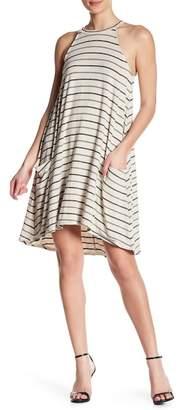 Matty M Striped Keyhole Swing Dress