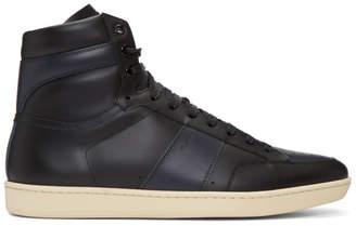 Saint Laurent Black Court Classic SL/10H High-Top Sneakers