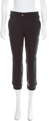 Hache Leather-Trimmed Mid-Rise Pants w/ Tags