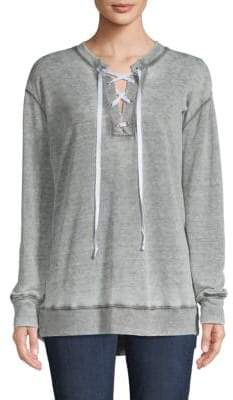 Allen Allen Lace-Up Sweatshirt