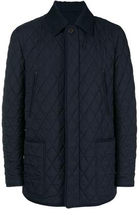 Brioni button quilted jacket