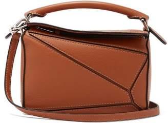 Loewe Puzzle Mini Grained Leather Cross Body Bag - Womens - Tan