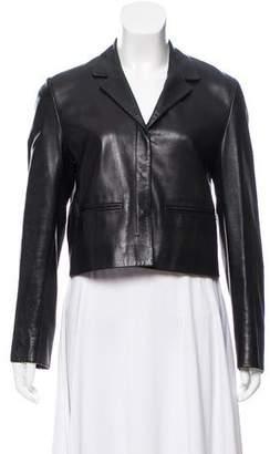 Prada Cropped Leather Jacket