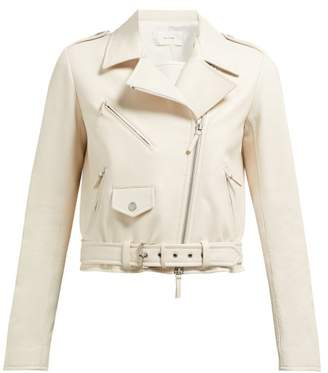 The Row Perlin Leather Jacket - Womens - Ivory