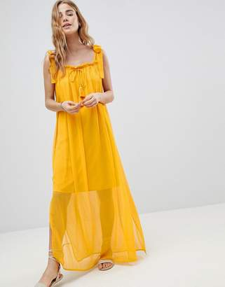 Matthew Williamson MW By MW by tassle tie maxi beach dress
