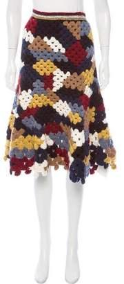 Rosetta Getty Alpaca-Blend Crochet Skirt w/ Tags