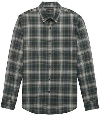 2f5664626cb5 Banana Republic NEW Slim-Fit Luxe Flannel Plaid Shirt