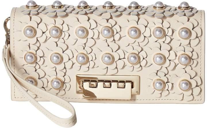 ZAC Zac Posen Earthette Wristlet Wallet with Floral Applique