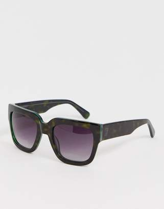 French Connection flat top square sunglasses
