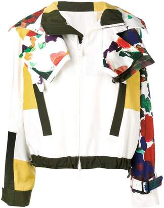 Sacai asymmetric printed jacket