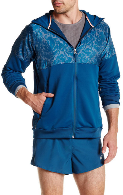 ASICS Graphic Hooded Zip-Up Jacket
