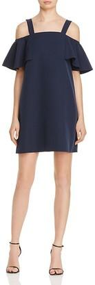 AQUA Ruffle Cold Shoulder Dress - 100% Exclusive $88 thestylecure.com