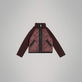 Burberry Knitted Sleeve Quilted Jacket