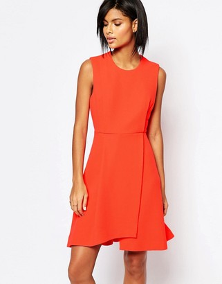Whistles Textured Dress in Orange $243 thestylecure.com