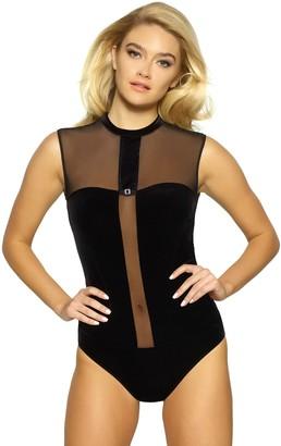 Jezebel Grace Velvet Bodysuit 999816