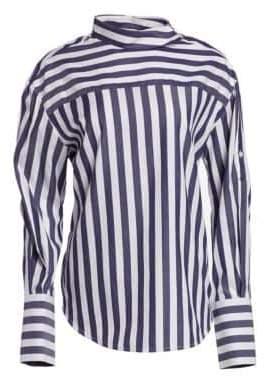 Monse Striped Shoulder Placket Shirt