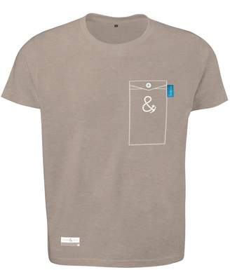 ANCHOR & CREW - Tan Brown Anchormark Print Organic Cotton T-Shirt (Mens)