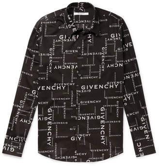 Givenchy Logo-Print Cotton Shirt