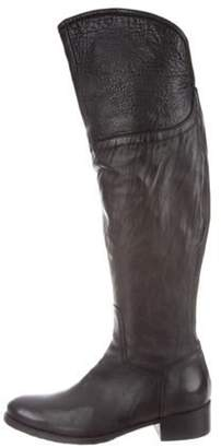 Alberto Fermani Knee-High Leather Boots Black Knee-High Leather Boots