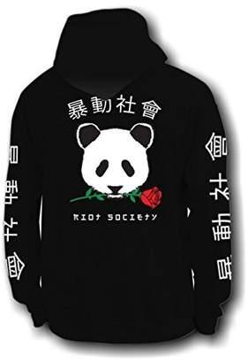 Riot Society Panda Rose Mens Hoodie - M