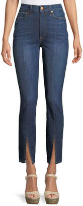 Alice + Olivia AO.LA by Alice+Olivia Good High-Rise Front-Split Skinny Jeans