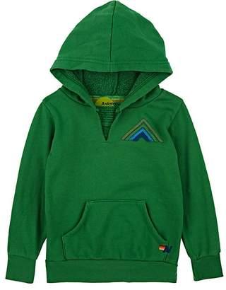 Aviator Nation Kids' Mountain-Striped Cotton-Blend Fleece Hoodie