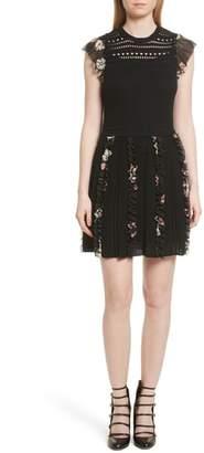 RED Valentino Ruffle Crochet Dress