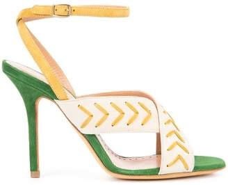 Alexa Wagner cross-over stiletto sandals