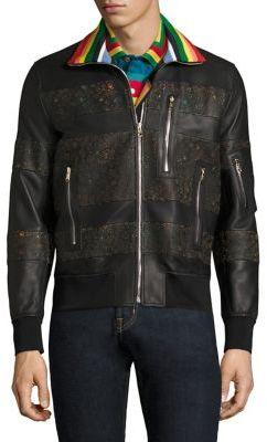 Paul SmithPaul Smith Contrast Leather Jacket