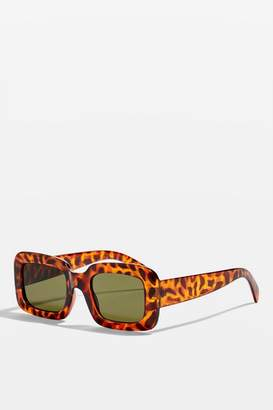 Topshop Willis Chunky Rectangle Sunglasses
