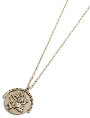 Topman Mens Gold Disc Necklace*