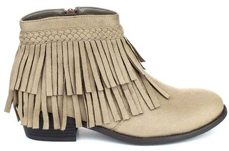 Taupe Tildon Fringe Ankle Boot $39.99 thestylecure.com