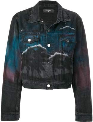 Amiri nightscape print denim jacket