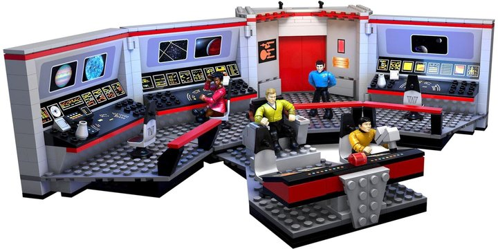 Mega Bloks Star Trek U.S.S. Enterprise Bridge Collector Construction Set Building Kit