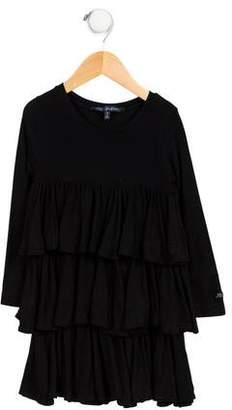 Lili Gaufrette Girls' Casual Tiered Dress