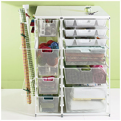 White elfa Mesh Craft Organizer