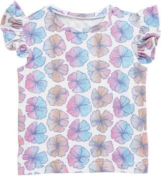 Coco Moon Sea Flower Flutter Sleeve T-Shirt