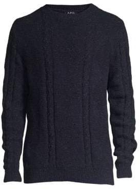 A.P.C. Heathered Cable-Knit Sweater