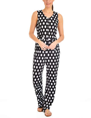 Asstd National Brand NY Collection Printed Sleeveless Jumpsuit