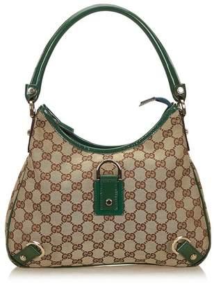 Gucci Vintage Guccissima Jacquard Abbey Hobo Bag