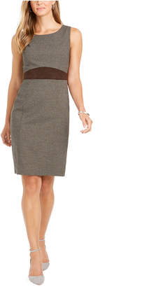 Kasper Crewneck Sheath Dress