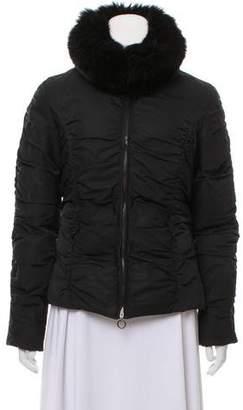 Moncler Fur-Trimmed Puffer Jacket