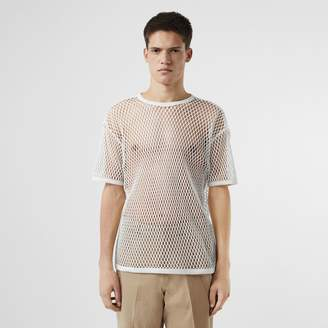 Burberry Cotton Mesh Oversized T-shirt