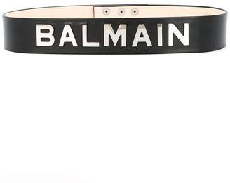 Balmain logo plaque belt