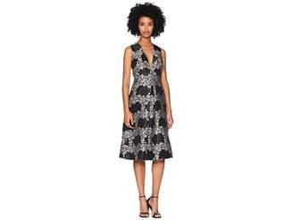 ML Monique Lhuillier Jacquard Cocktail Dress