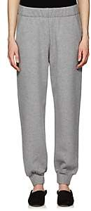 The Row Women's Linzia Cotton Fleece Sweatpants-Med. Grey Melange