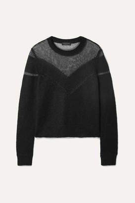 Rag & Bone Blaze Paneled Open-knit Sweater