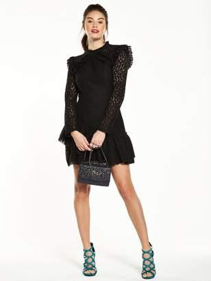 Very AsymmetricFrill Lace Dress