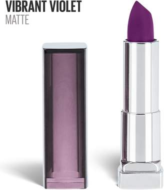 Maybelline Makeup Color Sensational Creamy Matte Lipstick, Vibrant Violet, Violet Lipstick 0.15 oz