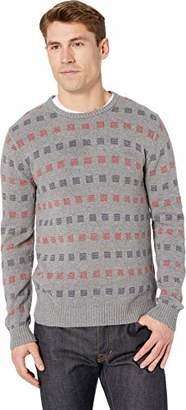 RVCA Men's Mini Jacquard Crew Neck Sweater